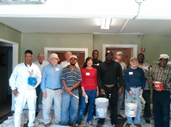 Group volunteers at Divinity Care