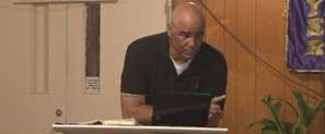 Alan teaching at the chapel 2013