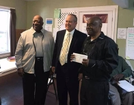 The honorable Mayor Talley, Fred Williams of Synovus Bank Spartanburg, and Rev Johnson