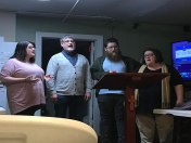 Tim Haynes' Family sings carols at Divinity on Thanksgiving Day